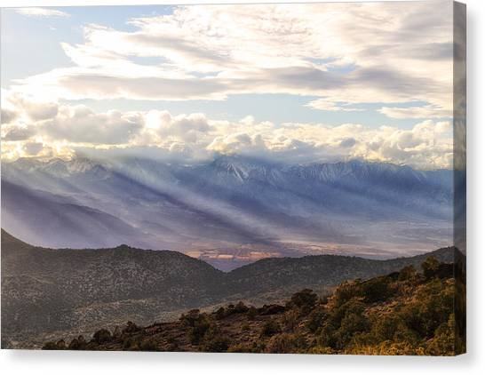 Owens Valley Sunset Canvas Print