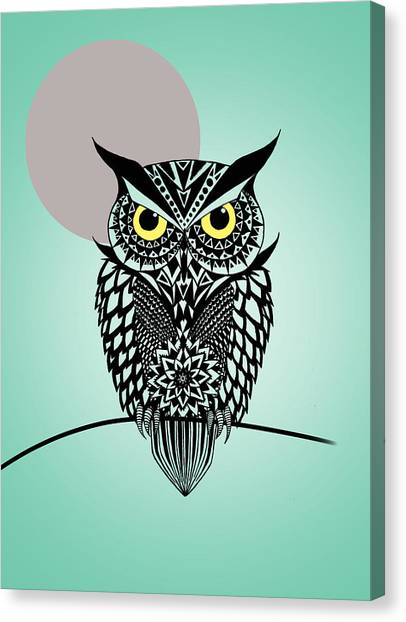 Owls Canvas Print - Owl 5 by Mark Ashkenazi