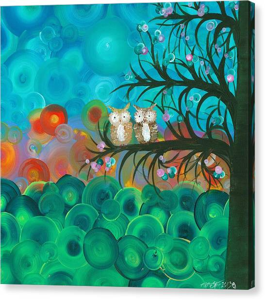 Owl Couples - 02 Canvas Print