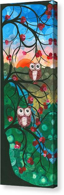 Owl Couples - 03 Canvas Print