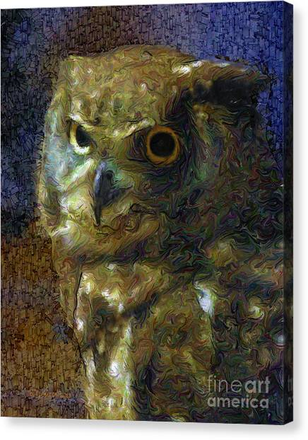 Canvas Print featuring the photograph Owl by Dee Flouton