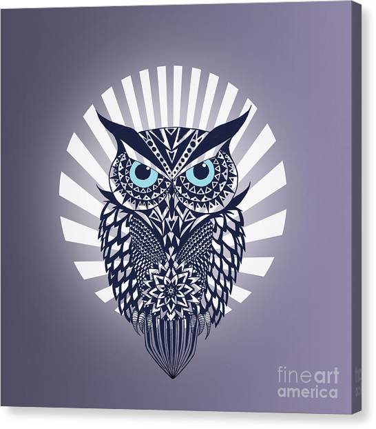 Owls Canvas Print - Owl by Mark Ashkenazi
