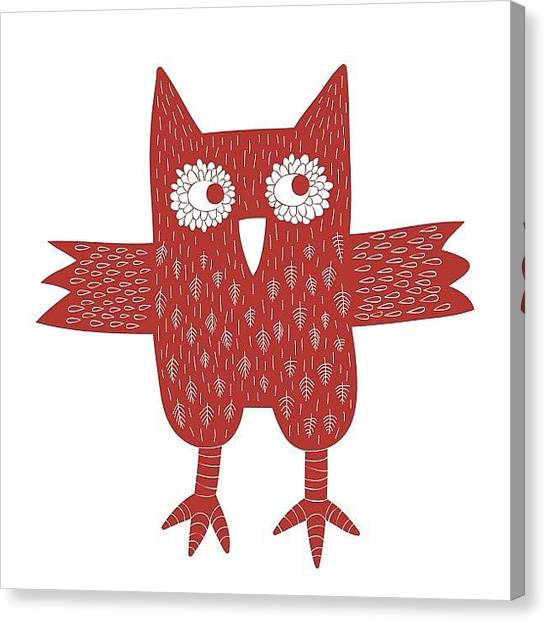 Owls Canvas Print - Owl by Nic Squirrell