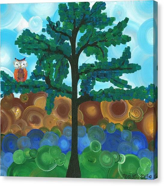 Owl Singles - 03 Canvas Print