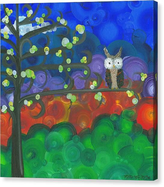 Owl Singles - 04 Canvas Print