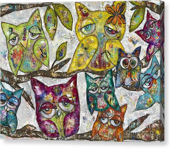 Owl Together Canvas Print