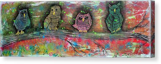 Owl Totem Canvas Print by Laura Barbosa