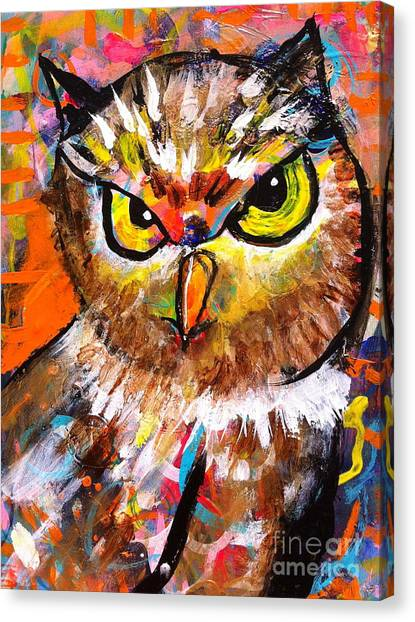 Owl With An Attitude Canvas Print