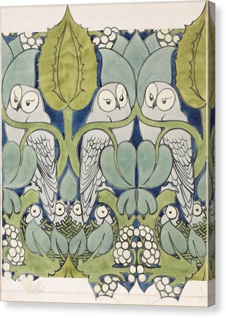 Art Movements Canvas Print - Owls, 1913 by Charles Francis Annesley Voysey
