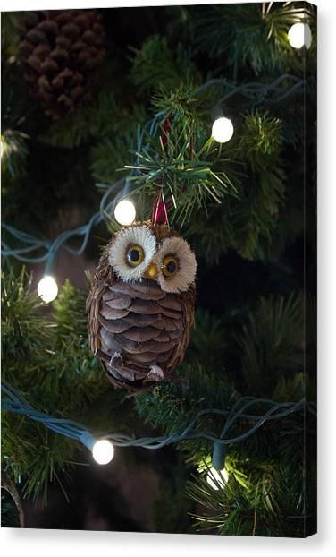 Owly Christmas Canvas Print
