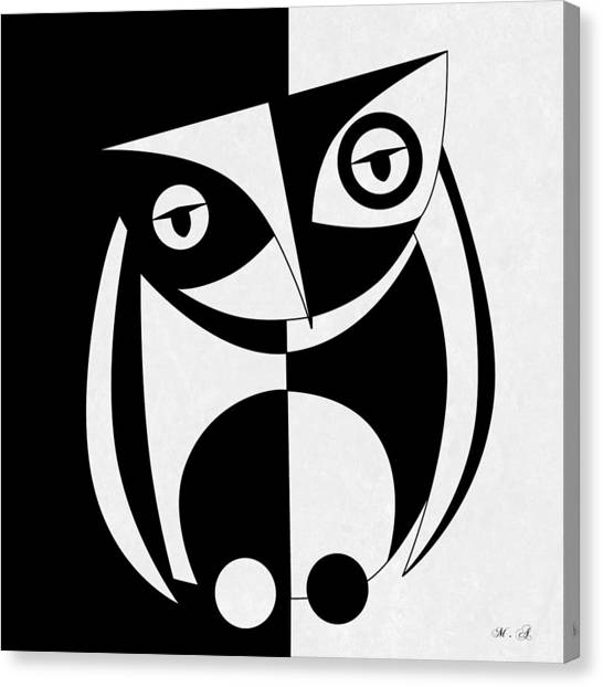 Owls Canvas Print - Own Abstract  by Mark Ashkenazi