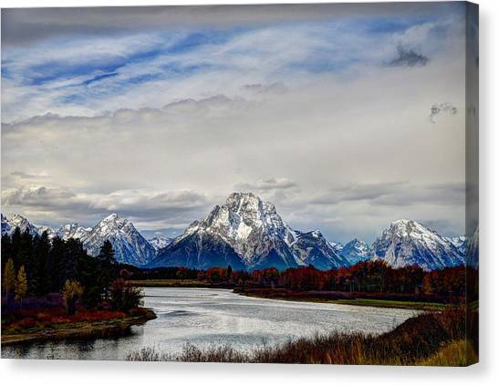 Oxbow Bend In Autumn Canvas Print