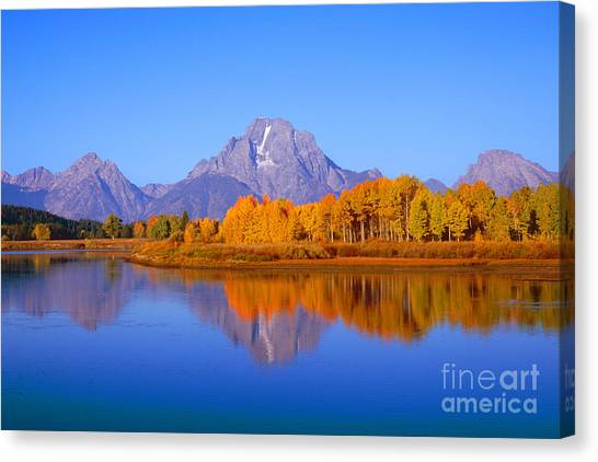 Oxbow Bend In Grand Teton Canvas Print
