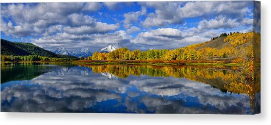 Oxbow Bend Peak Autumn Panorama Canvas Print