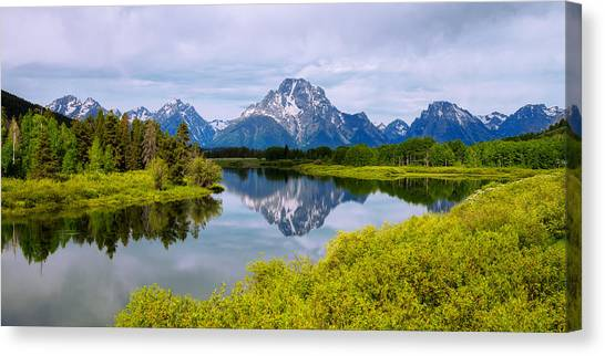Grand Tetons Canvas Print - Oxbow Summer by Chad Dutson