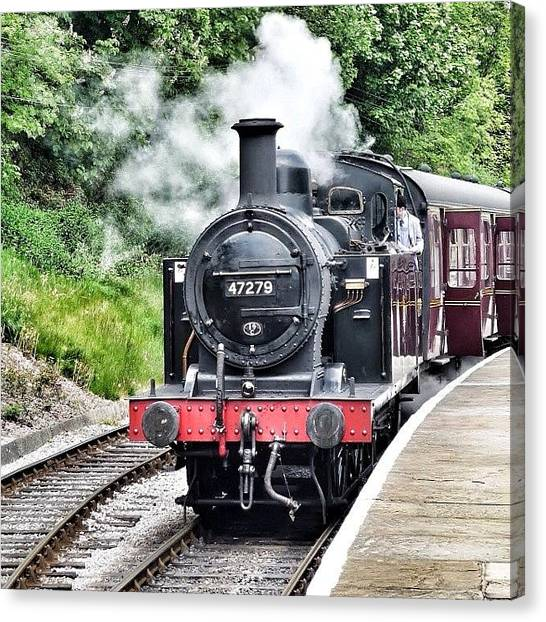 Steam Trains Canvas Print - #oxenhope #steam #train #yorkshire by David Cook