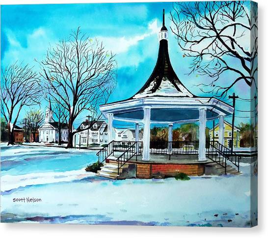 Oxford Bandstand Canvas Print by Scott Nelson