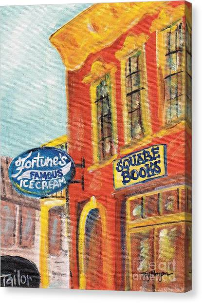 University Of Mississippi Ole Miss Canvas Print - Oxford Square Books by Tay Morgan