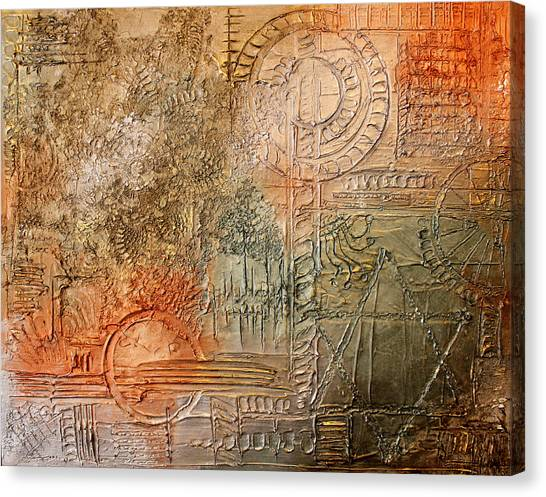 Oxidization Sacred Geometry Canvas Print