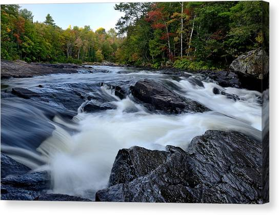 Oxtongue River Rapids Panoramic Canvas Print