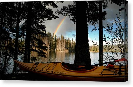Oyama Lake - Kayaking Canvas Print