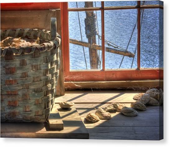 Oyster Basket Canvas Print