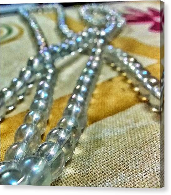 Oysters Canvas Print - #oysters #necklace #macro #bokeh #hdr by Parth Patel