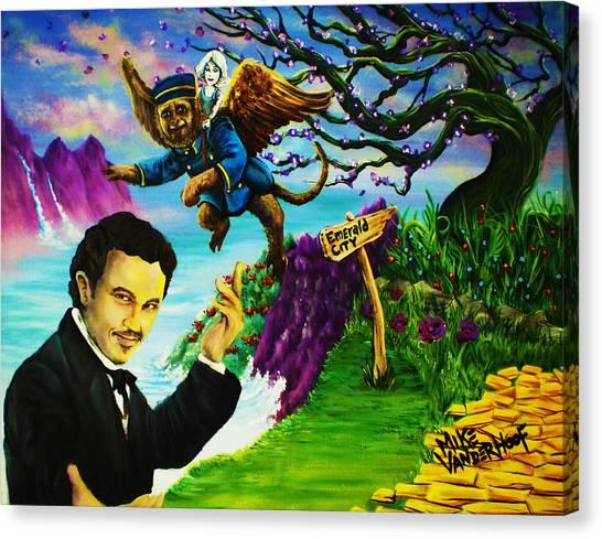 James Franco Canvas Print - Oz By Mike Vanderhoof / Kingmikev.com by Mike Vanderhoof