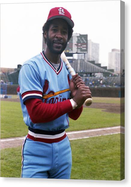 Braces Canvas Print - Ozzie Smith By George Brace by Retro Images Archive