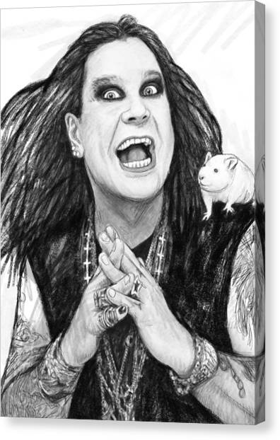 Music Genres Canvas Print - Ozzy Osbourne Art Drawing Sketch Portrait by Kim Wang