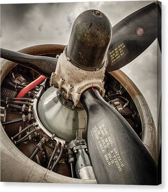 Prop Planes Canvas Print - P-17 Prop by Mike Burgquist