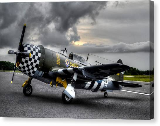 P-47 Sunset Canvas Print