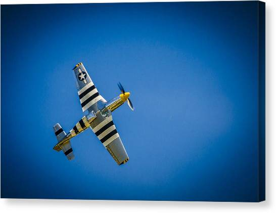 P-51 Invasion Stripes Canvas Print