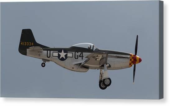 P-51 Landing Configuration Canvas Print