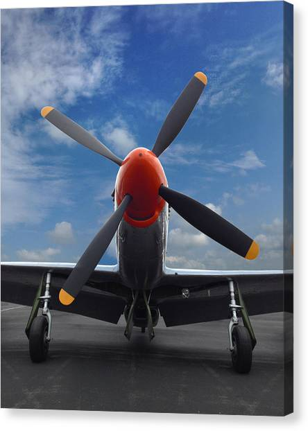 P-51 Ready For Flight Canvas Print