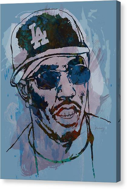 Harlem Canvas Print - P Diddy - Stylised Etching Pop Art Poster by Kim Wang