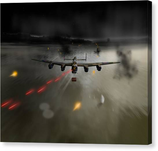P-popsie Attacking The Mohne Dam Canvas Print