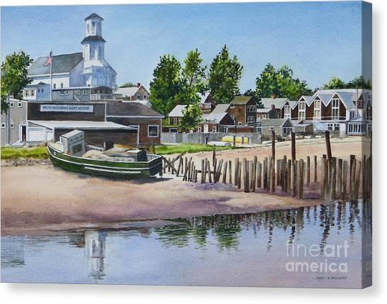 P' Town Boat Works Canvas Print by Karol Wyckoff