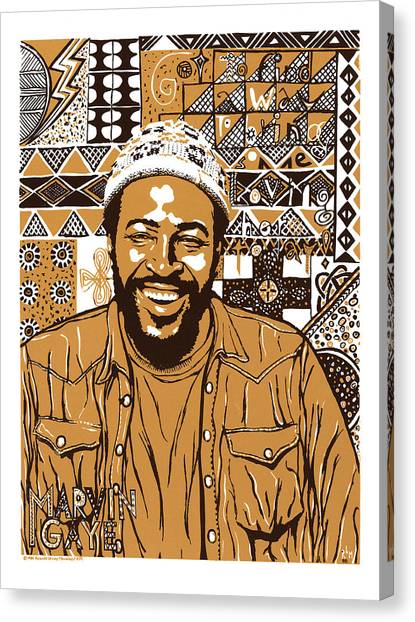 Marvin Gaye Canvas Print by Ricardo Levins Morales