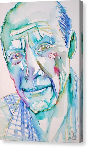Pablo Picasso Canvas Print - Pablo Picasso- Portrait by Fabrizio Cassetta