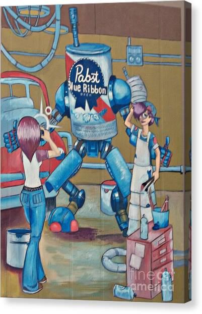 Pabst Mural In The Loop Canvas Print