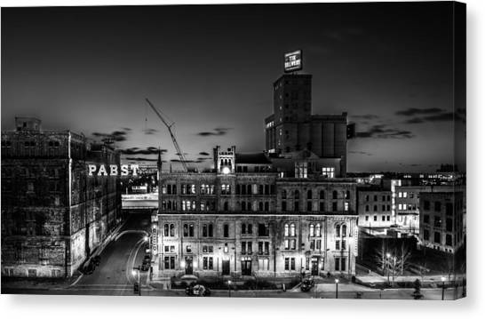 Pabst U-turn Monochrome Canvas Print