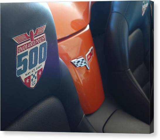 Pace Ride - Indianapolis 500 Corvette Canvas Print by Steven Milner