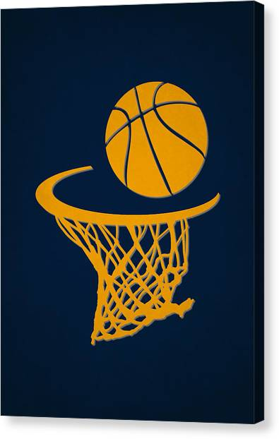 Indiana Pacers Canvas Print - Pacers Team Hoop2 by Joe Hamilton