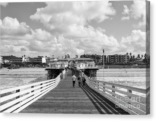 Pacific Beach From Crystal Pier Canvas Print