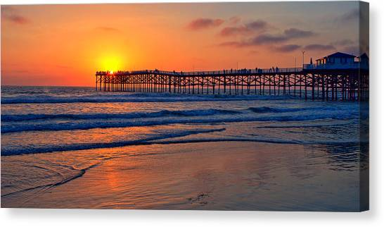 Pacific Beach Pier - Ex Lrg - Widescreen Canvas Print