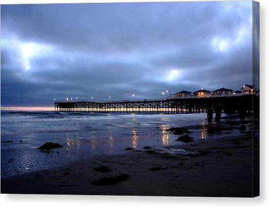 Pacific Beach Pier Canvas Print by Carrie Warlaumont