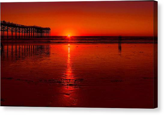 Pacific Beach Sunset Canvas Print