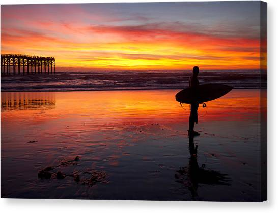 Pacific Beach Was On Fire Tonight Canvas Print