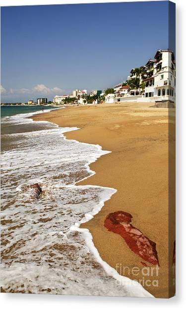 Beach Resort Vacation Canvas Print - Pacific Coast Of Mexico by Elena Elisseeva
